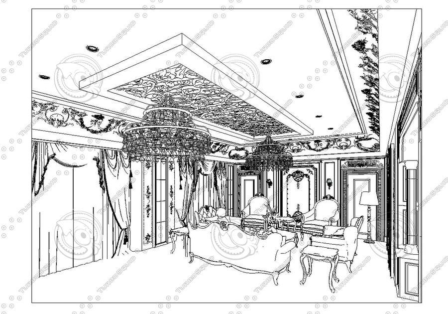 Classic Architecture Scene Revit royalty-free 3d model - Preview no. 4