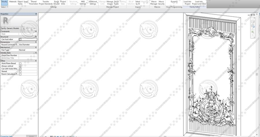 Classic Architecture Scene Revit royalty-free 3d model - Preview no. 7