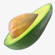 Avocado half met zaad 3d model