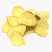 Potato Chips Pile 02 3d model