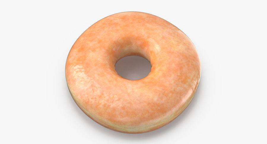 Donut 04 - Plain royalty-free 3d model - Preview no. 4