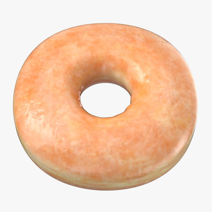 Donut 04 - Plain royalty-free 3d model - Preview no. 1