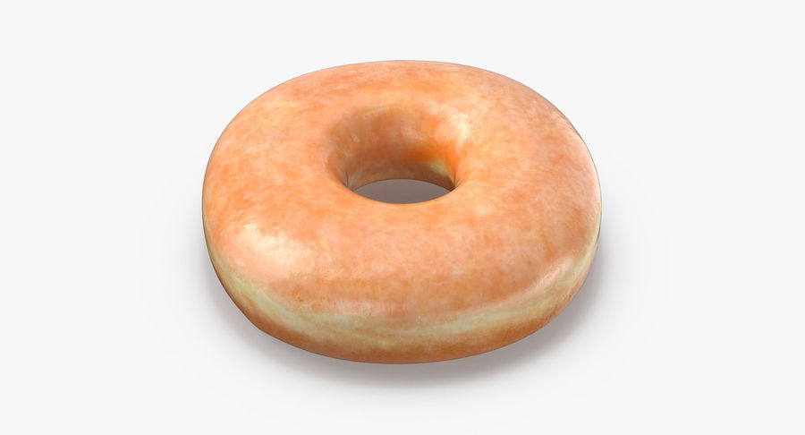 Donut 04 - Plain royalty-free 3d model - Preview no. 8