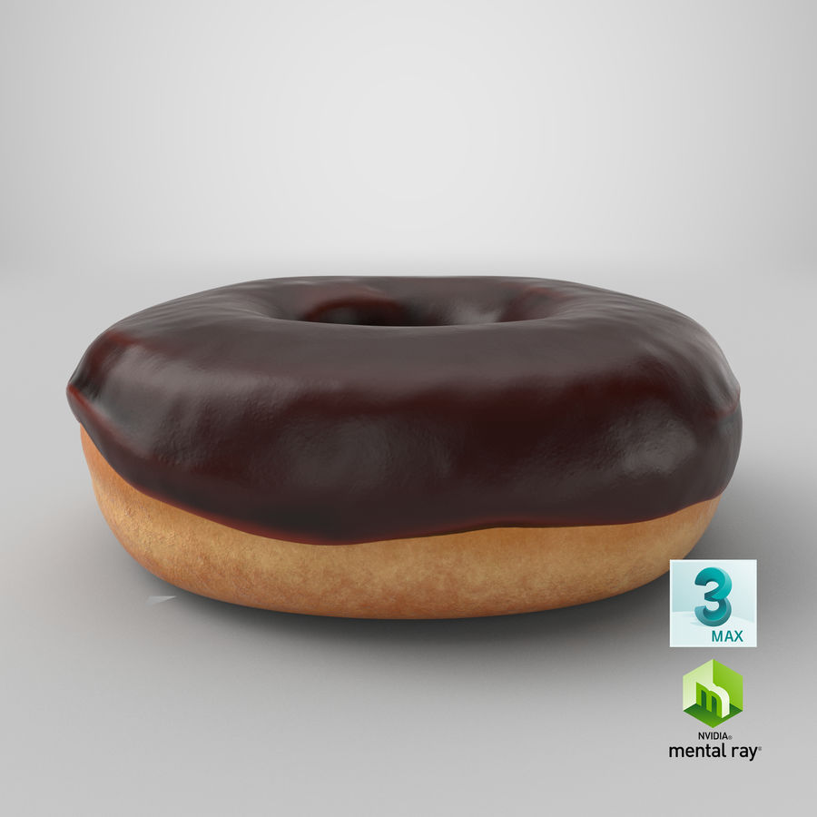 Donut 02 - Chocolate royalty-free 3d model - Preview no. 24