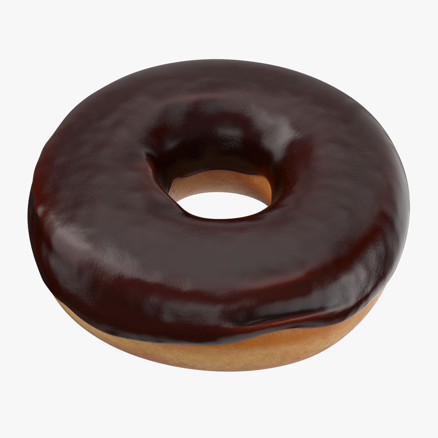 Donut 02 - Chocolate royalty-free 3d model - Preview no. 1