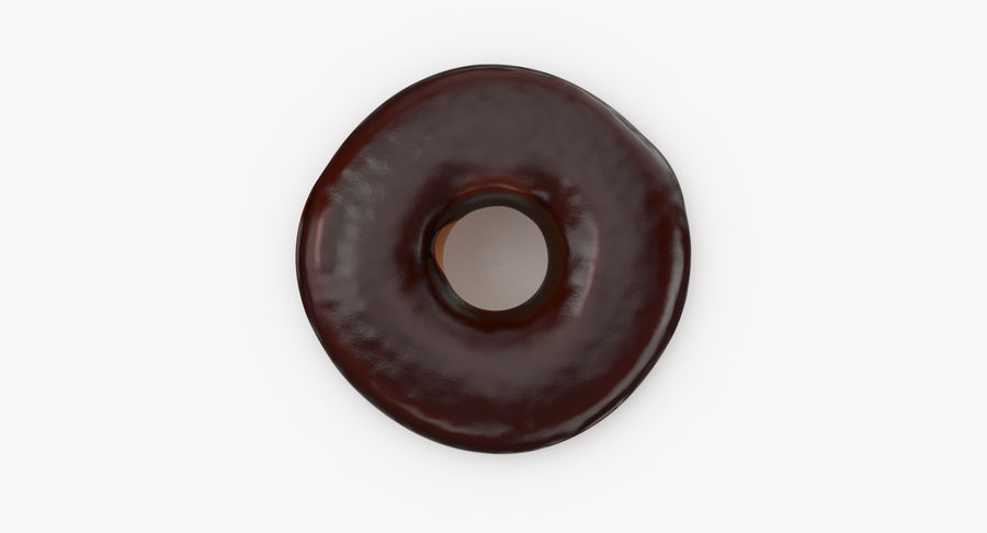 Donut 02 - Chocolate royalty-free 3d model - Preview no. 8