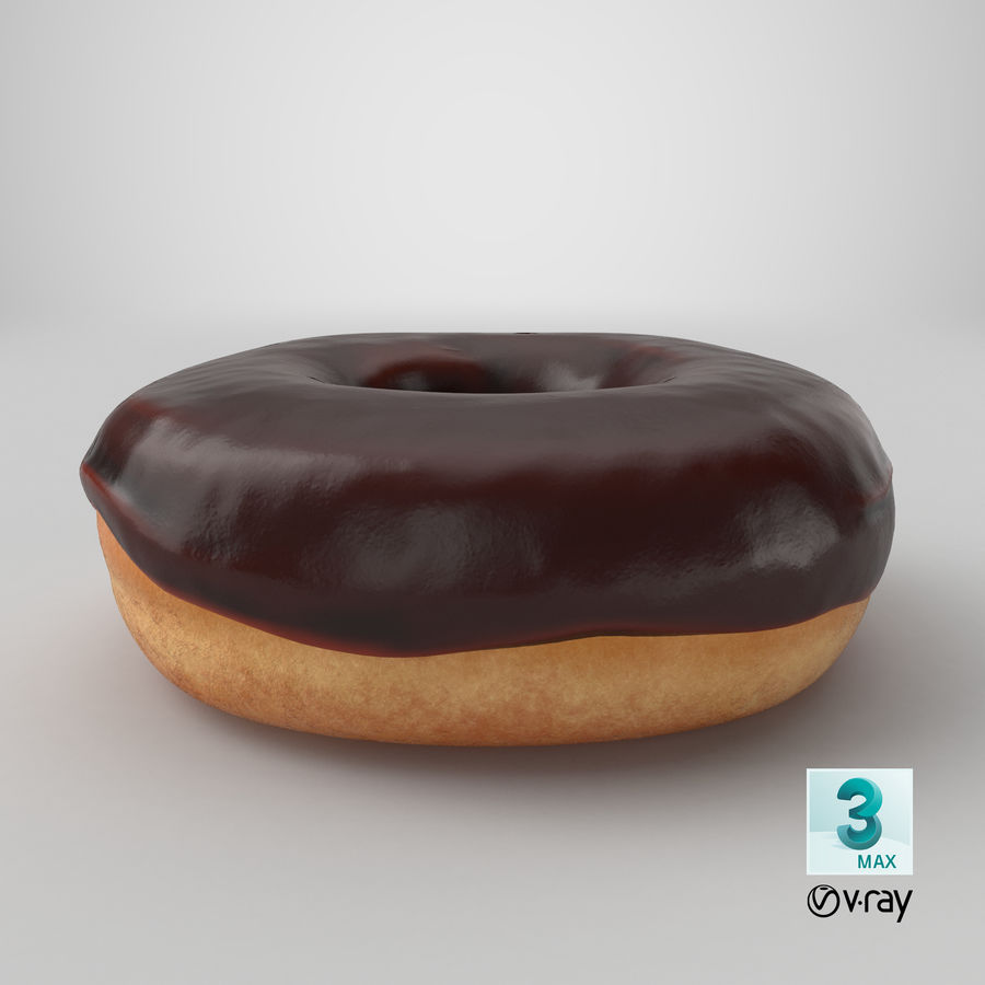 Donut 02 - Chocolate royalty-free 3d model - Preview no. 23