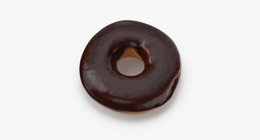 Donut 02 - Chocolate royalty-free 3d model - Preview no. 7
