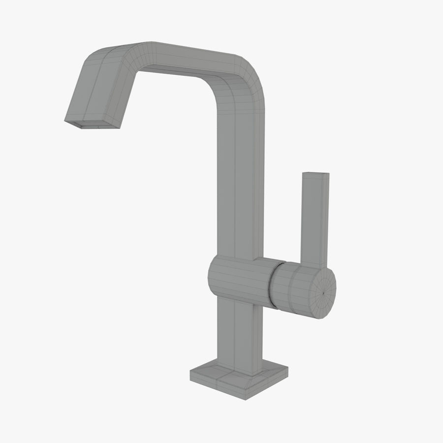 IMO Basin Mixer Set royalty-free 3d model - Preview no. 24