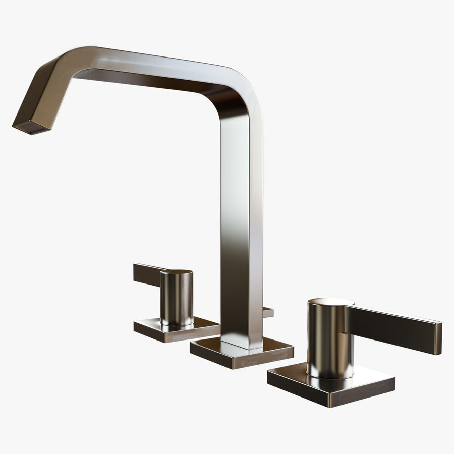 IMO Basin Mixer Set royalty-free 3d model - Preview no. 9