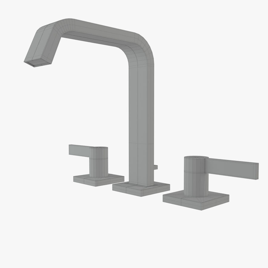 IMO Basin Mixer Set royalty-free 3d model - Preview no. 12