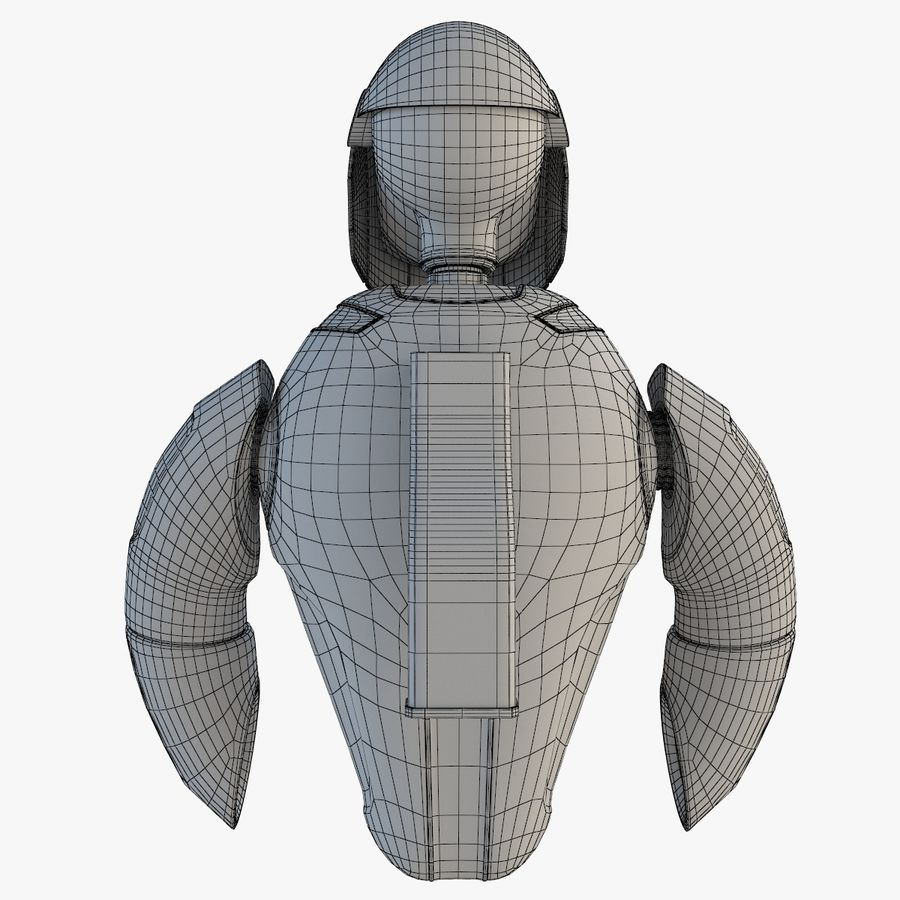 Flying Robot royalty-free 3d model - Preview no. 10