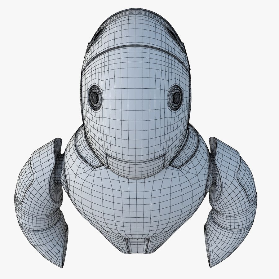Flying Robot royalty-free 3d model - Preview no. 12
