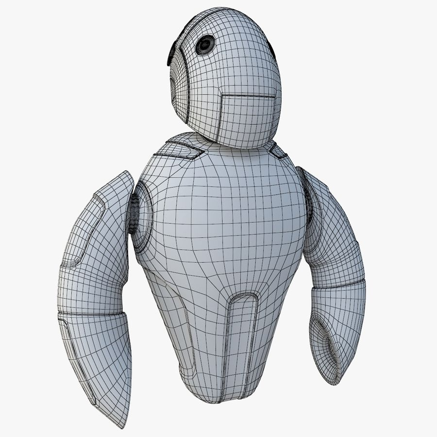Flying Robot royalty-free 3d model - Preview no. 8