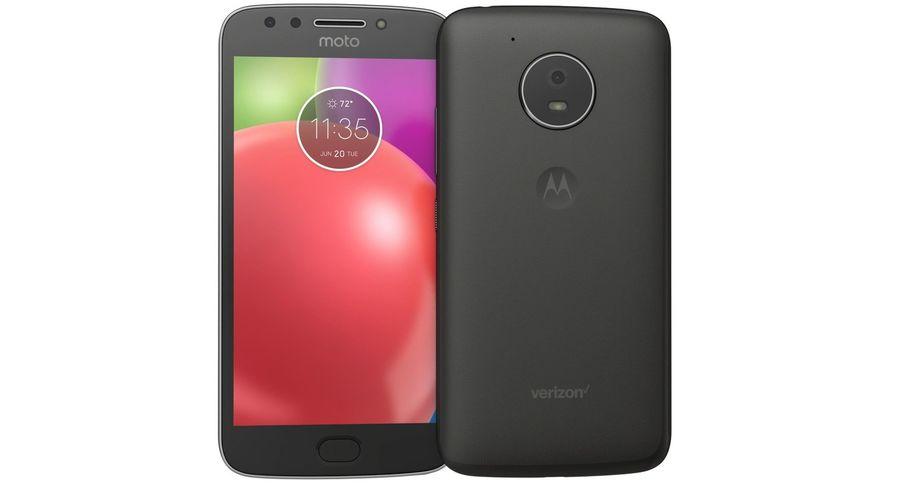 Motorola Moto E4 Licorice Black royalty-free 3d model - Preview no. 7
