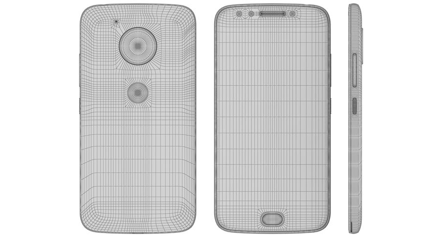 Motorola Moto E4 Licorice Black royalty-free 3d model - Preview no. 22