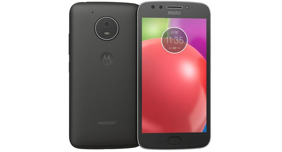 Motorola Moto E4 Licorice Black royalty-free 3d model - Preview no. 8
