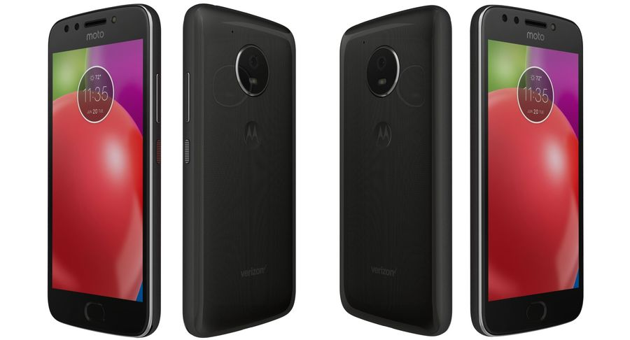 Motorola Moto E4 Licorice Black royalty-free 3d model - Preview no. 5