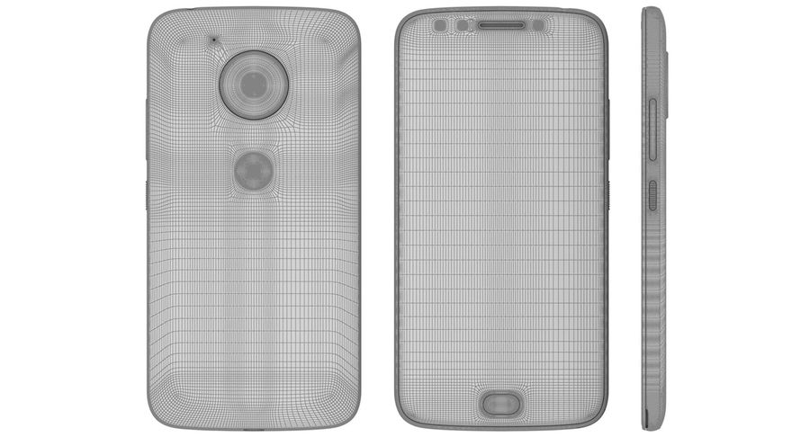 Motorola Moto E4 Licorice Black royalty-free 3d model - Preview no. 23