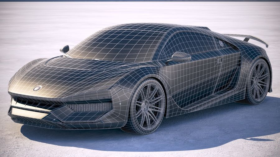 Generic Supercar 2018 royalty-free 3d model - Preview no. 20