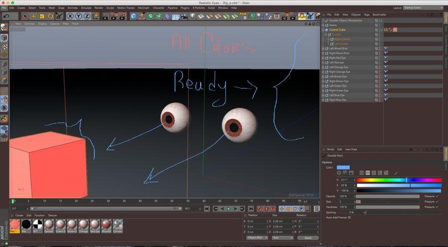 Realist İnsan Gözü - Teçhizatlı royalty-free 3d model - Preview no. 9
