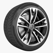 Audi A4 2016 Allroad Wheel 3d model