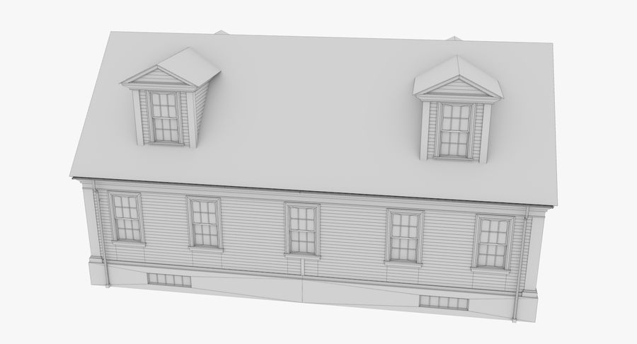 Colonial House 9 Bare Bones Version royalty-free 3d model - Preview no. 17