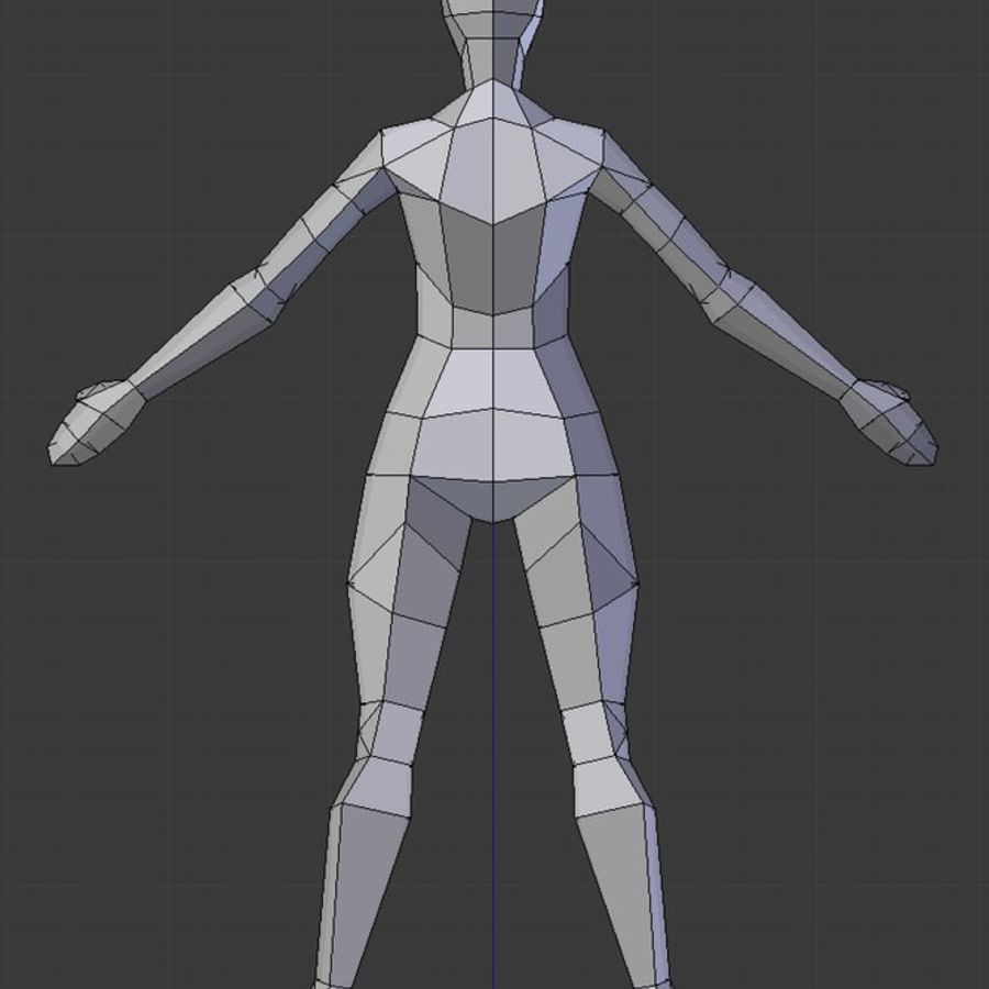 Low poly female model royalty-free 3d model - Preview no. 3