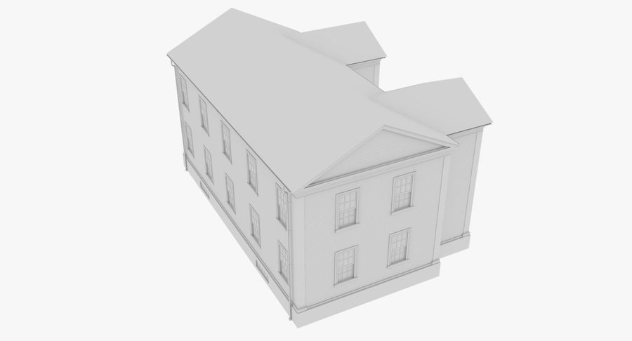 Colonial House 8 Bare Bones Version royalty-free 3d model - Preview no. 10