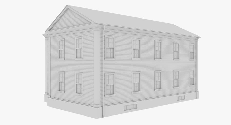 Colonial House 8 Bare Bones Version royalty-free 3d model - Preview no. 6
