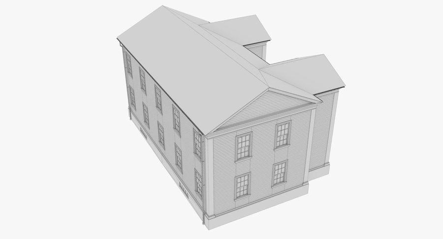 Colonial House 8 Bare Bones Version royalty-free 3d model - Preview no. 18