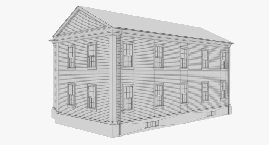Colonial House 8 Bare Bones Version royalty-free 3d model - Preview no. 14
