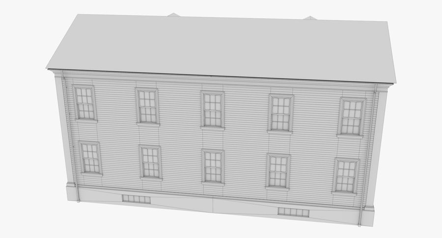 Colonial House 8 Bare Bones Version royalty-free 3d model - Preview no. 17