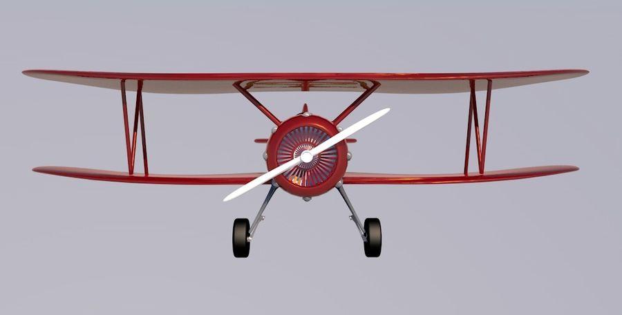 Biplane royalty-free 3d model - Preview no. 4