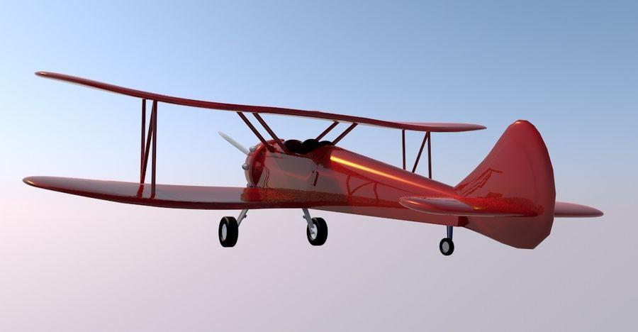 Biplane royalty-free 3d model - Preview no. 3