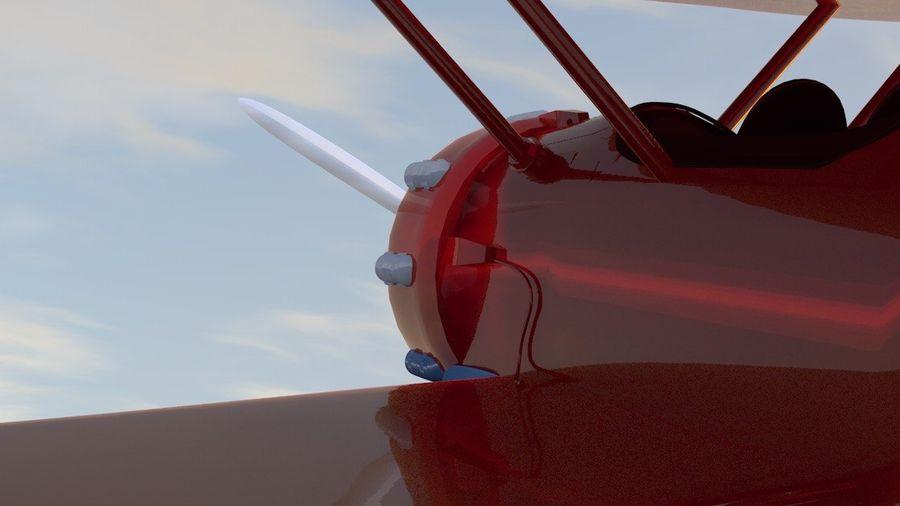 Biplane royalty-free 3d model - Preview no. 5