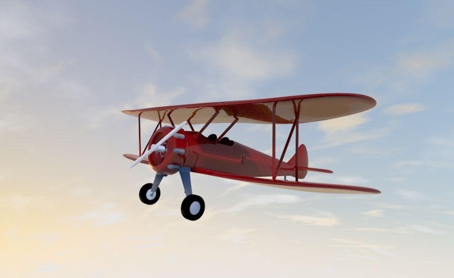 Biplane royalty-free 3d model - Preview no. 2