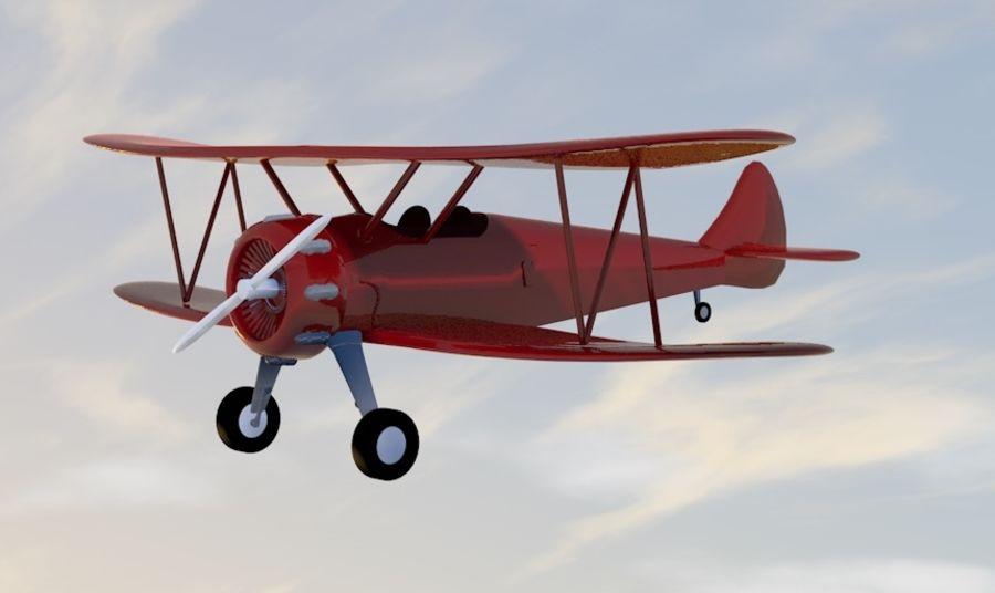 Biplane royalty-free 3d model - Preview no. 1