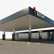 Socar station 3d model