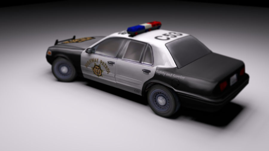 Police Car Low Poly Hand Painted 3d Model 4 Unknown Obj Fbx