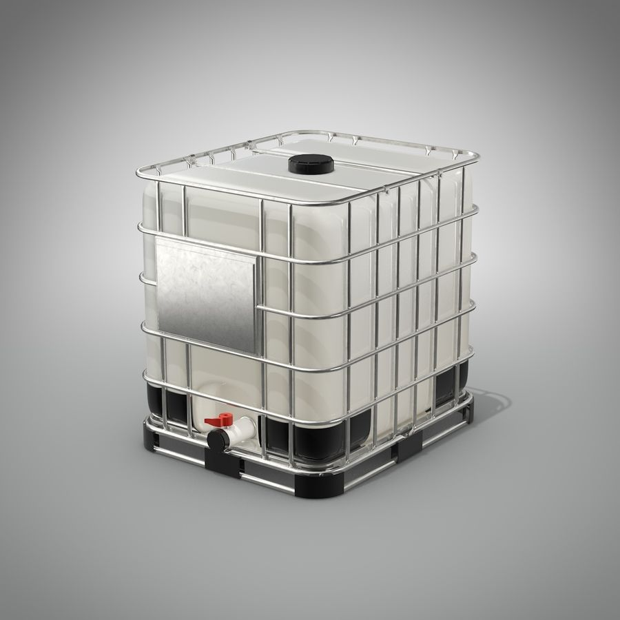 Water storage Tank royalty-free 3d model - Preview no. 1