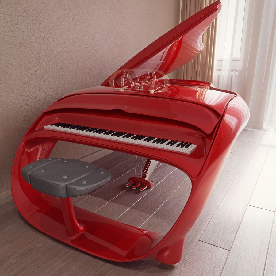 Schimmel Pegasus piano royalty-free 3d model - Preview no. 5