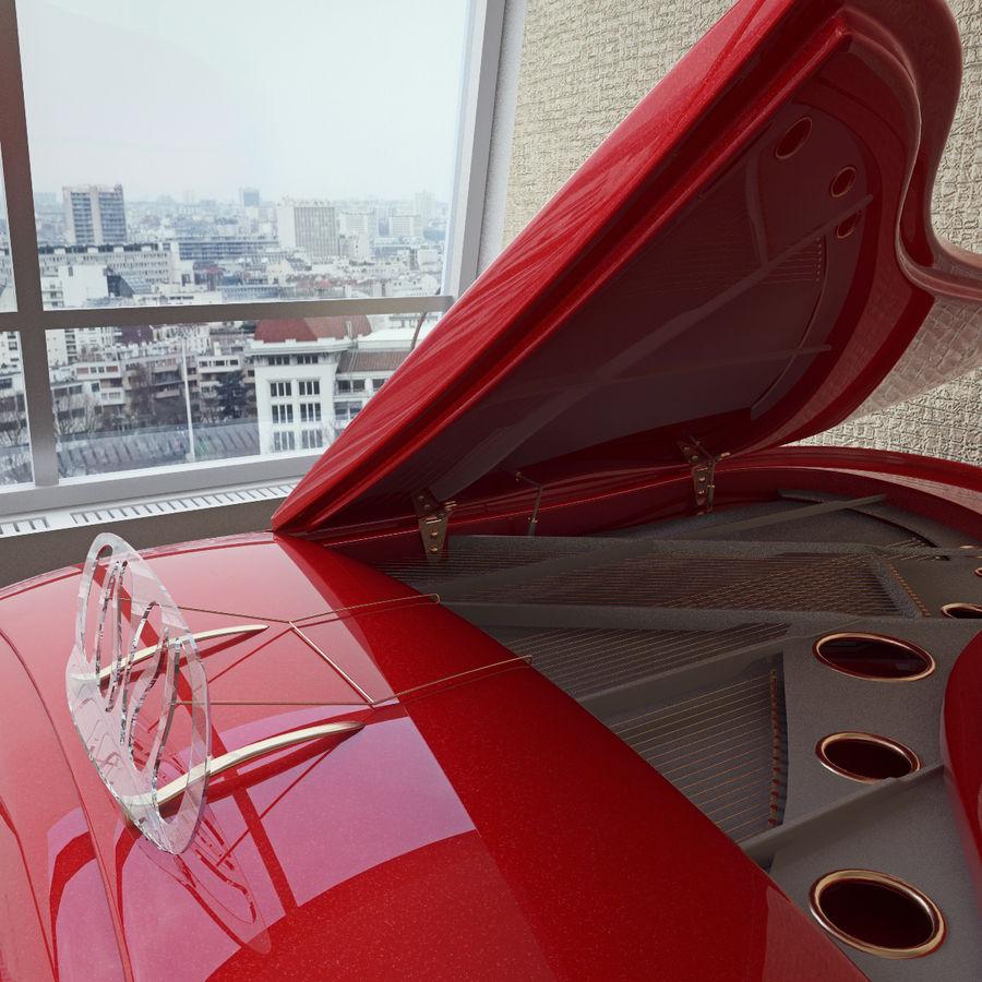 Schimmel Pegasus piano royalty-free 3d model - Preview no. 8