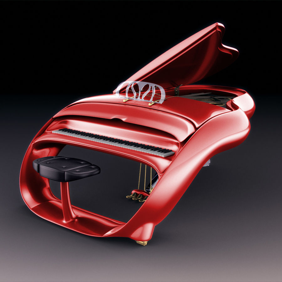 Schimmel Pegasus piano royalty-free 3d model - Preview no. 3