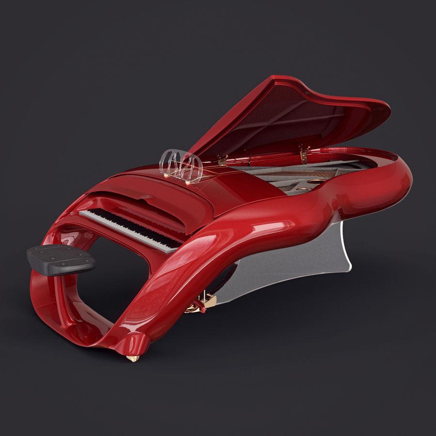 Schimmel Pegasus piano royalty-free 3d model - Preview no. 12