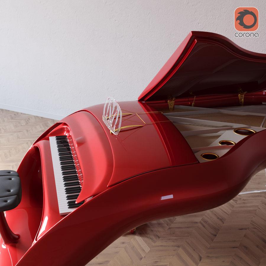 Schimmel Pegasus piano royalty-free 3d model - Preview no. 2