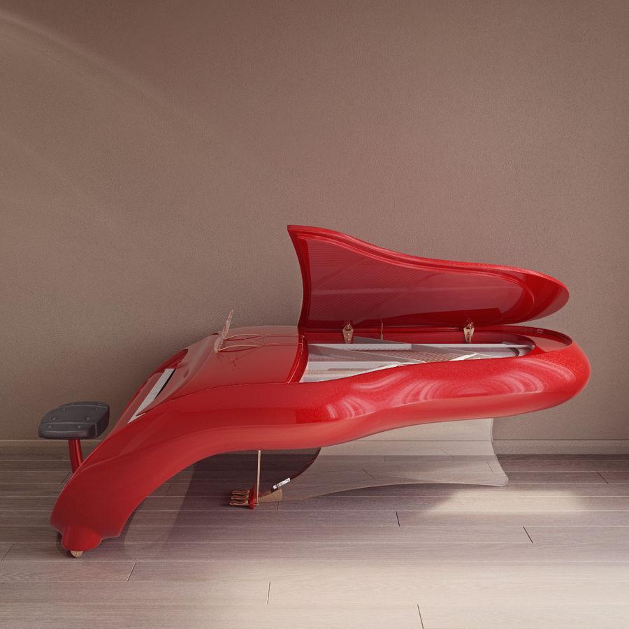 Schimmel Pegasus piano royalty-free 3d model - Preview no. 4