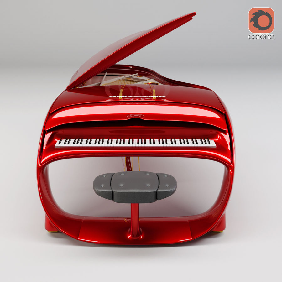 Schimmel Pegasus piano royalty-free 3d model - Preview no. 9