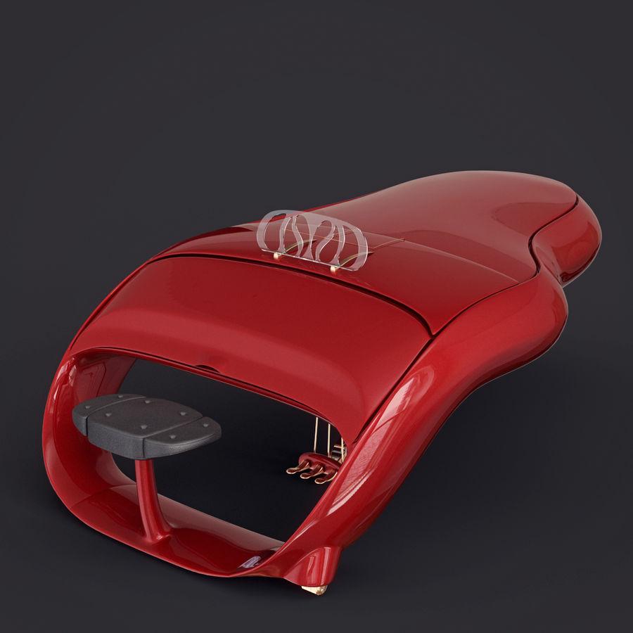 Schimmel Pegasus piano royalty-free 3d model - Preview no. 14