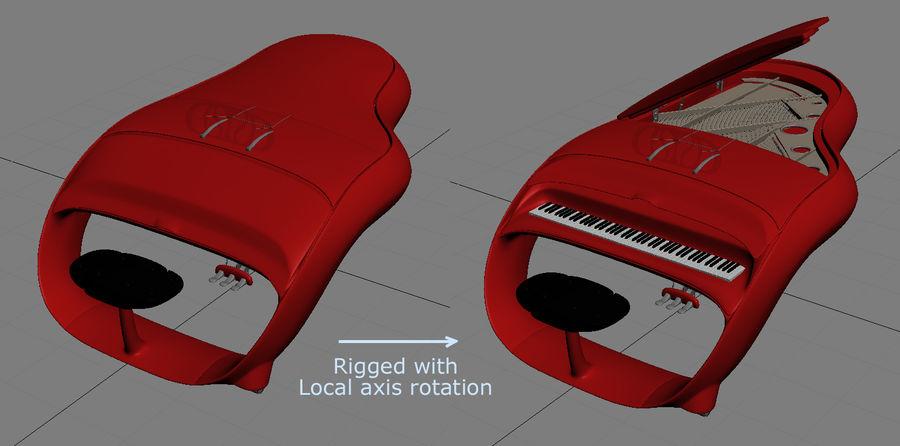 Schimmel Pegasus piano royalty-free 3d model - Preview no. 20